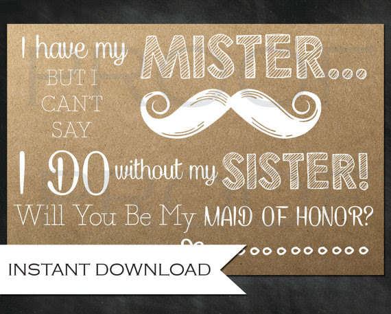 Rustic Bridesmaid Ask For The Sister Will You Be My Maid Of Honor