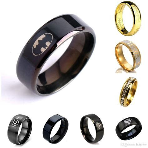 Stainless Steel Rings Cool Black Ring High Polished 316l