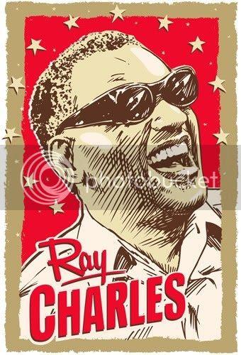 ray charles print by redrobotcreative