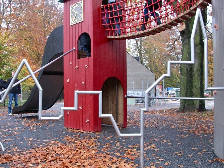 Skyline on the playground