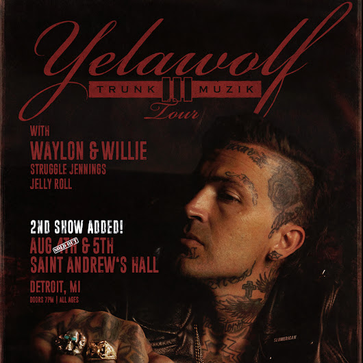 Yelawolf at St. Andrew's Hall Ticket Giveaway