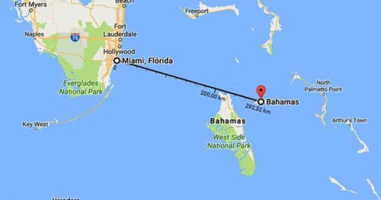 Desde 6 de novembro familiares não tem notícias do brasileiros que fariam travessia - Foto: Reprodução | Google Maps