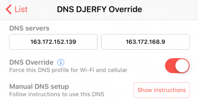 [ iOS ] Modification de ses DNS 3G/4G/WiFi ! - #DJERFY.com
