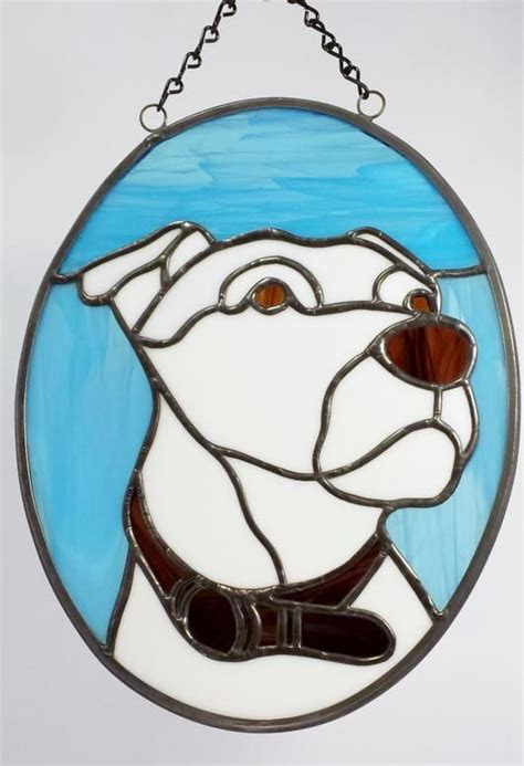 animals dogs stained glass images  pinterest
