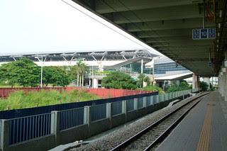 新烏日站第二月台與台中捷運綠線