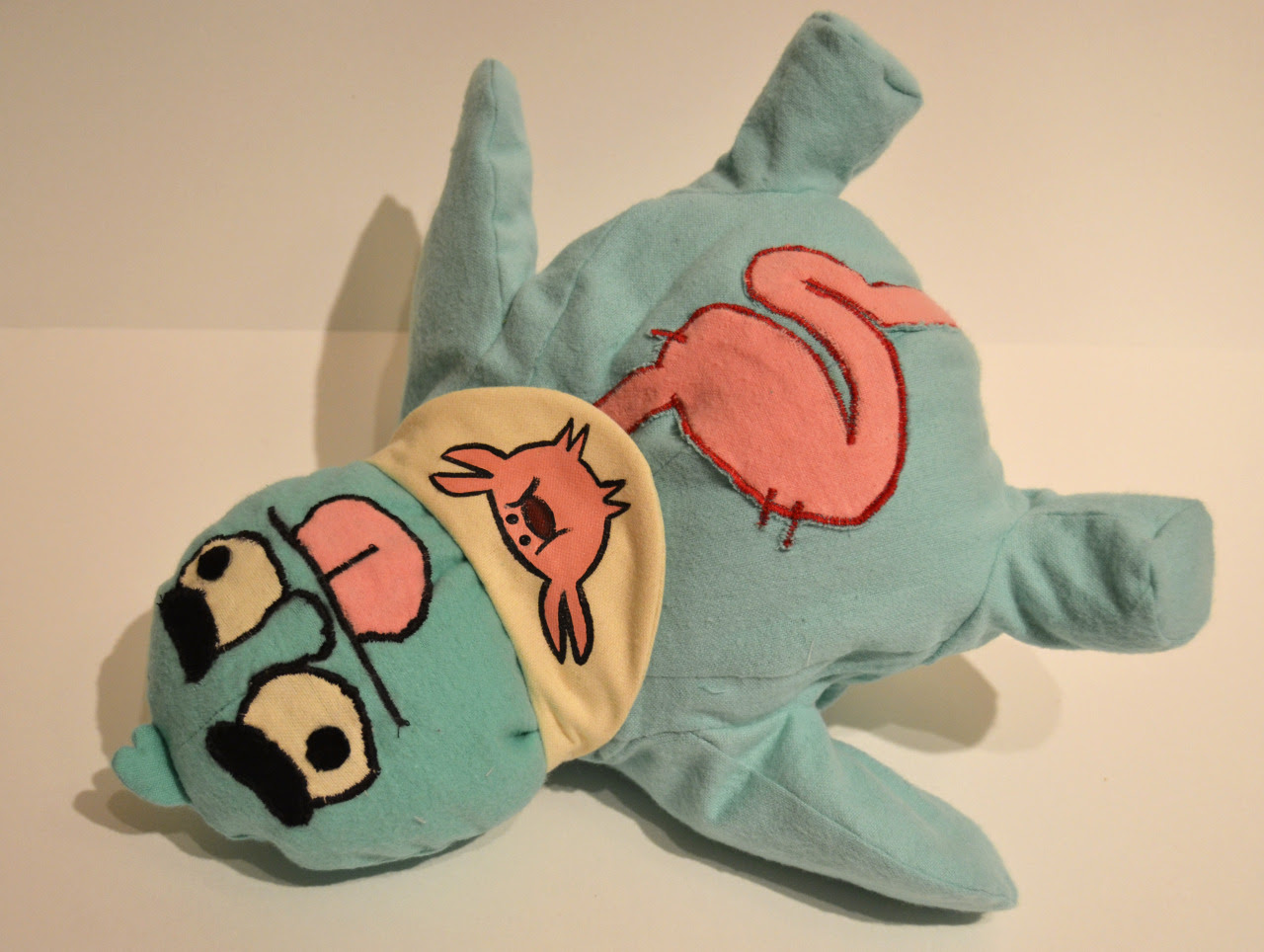 Finished the Mr. Queasy plush! I'm not going to be making any more of these They're obnoxiously difficult for something so simple