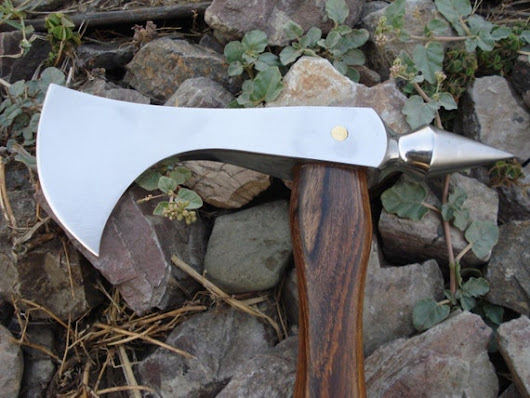 Custom Handmade Tomahawk With Spike by MadnitraderShop on Etsy