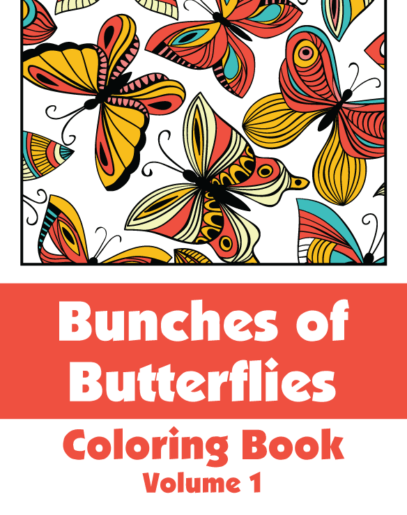 Butterflies Coloring Book For GrownUps 1 Volume 1