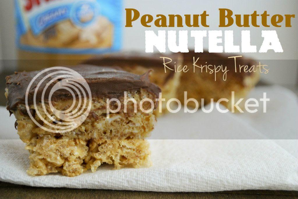 Peanut Butter Nutella Rice Krispy Treats