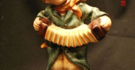 vintage friedel bavaria hand painted boy playing