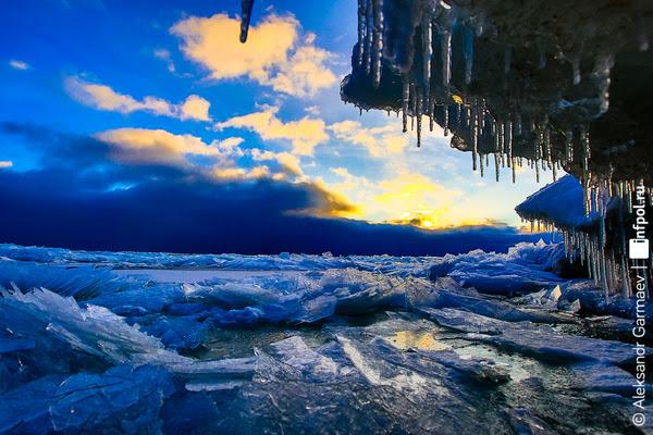 Чистый лед Байкала. лёд, Байкал, баргузинский заповедник, Александр Гармаев, фотограф-анималист, природа России, зима, длиннопост