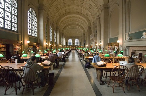 Reading Room, Boston Public Library