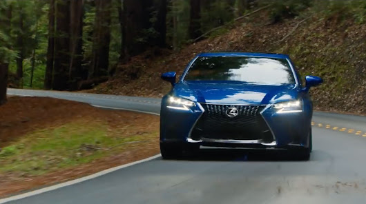 Lexus GS F SPORT Features in New USA Commercial