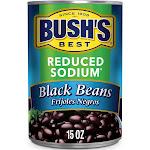 Bush's Reduced Sodium Black Beans - 15oz