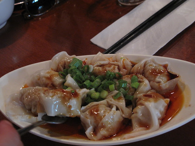 Wonton with chili oil sauce - 紅油炒手