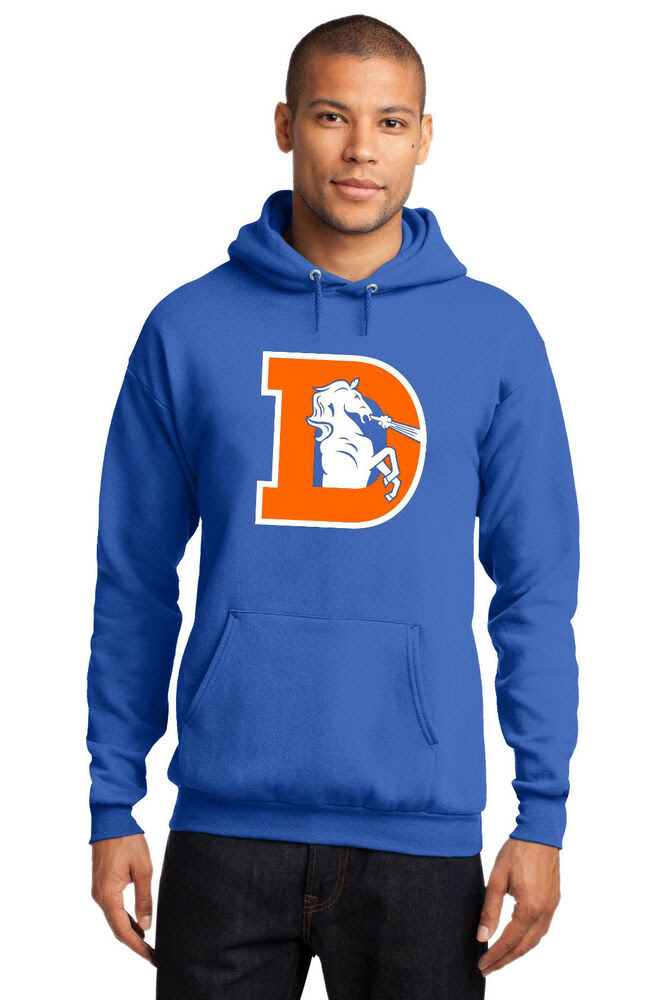 New Denver Broncos Vintage Logo Hoodie Hooded Sweatshirt NFL Mens Jersey S4XL  eBay