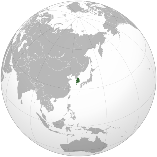 File:South Korea (orthographic projection).svg