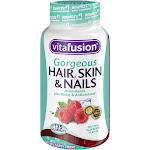Vitafusion Gorgeous Hair Skin & Nails Multivitamin Gummies, Natural Raspberry - 135 count
