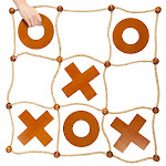Giant Tic Tac Toss Yard Game | Premium Wooden Tic Tac Toe Game, Large Indoor Outdoor Activity | Backyard Games, Family Games, & Tailgating Parties |