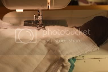 sewing a fitted diape