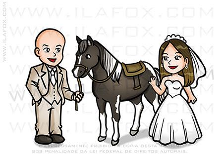 caricatura casal, caricatura fofinha, caricatura noivos, caricatura para casamento, caricatura digital, caricatura com cavalo, by ila fox