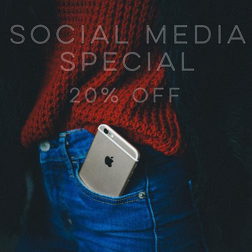 Book Now, then Follow me on Social Media, Show me when you're in my chair. Receive 20% off the services you want most!