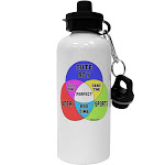 Beer Boy and Sports Diagram Aluminum 600ml Water Bottle