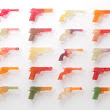 Candy Colts, A Display of Resin & Glass Guns That Look Like Candy