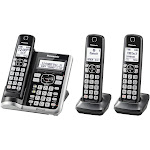 Panasonic KX-TGF573S Expandable Cordless Phone with 2 Handsets - Silver