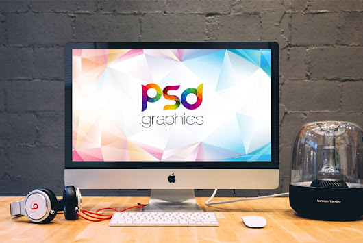 Apple iMac on Desk Mockup PSD | PSD Graphics