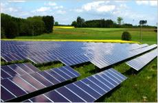 薄膜型太陽電池発電システムのイメージ