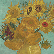 Sunflowers (detail), 1889, by Vincent van Gogh