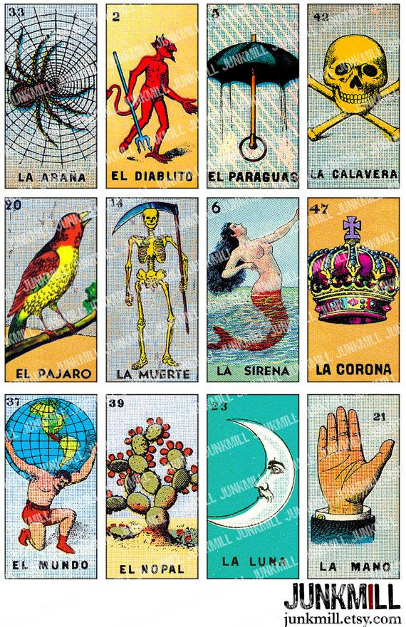 1000+ images about Mexican Bingo-Loteria on Pinterest | Mermaid ...