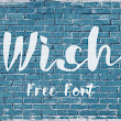 Wish is a free hand lettering font