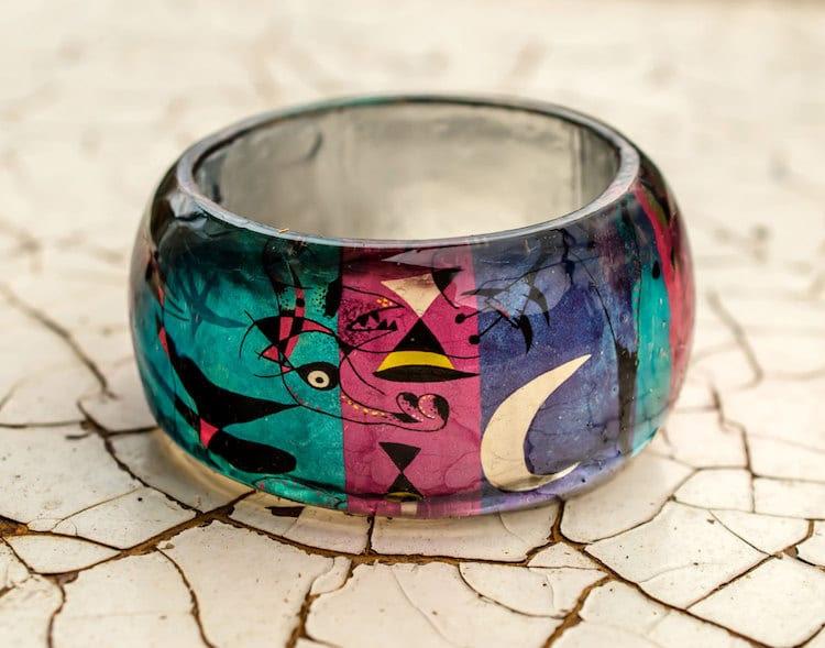 11-paganeuniques-fine-art-résine-bracelet-miro