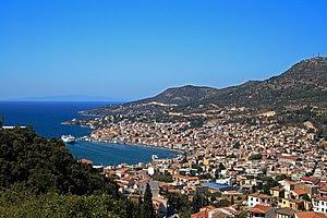 Deutsch: Blick auf Samos Stadt English: View o...