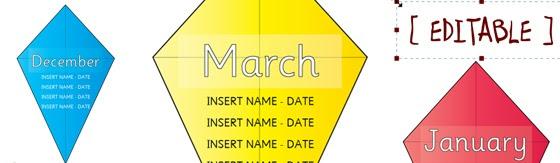 Editable Birthday Kite Display http://displays.tpet.co.uk ...
