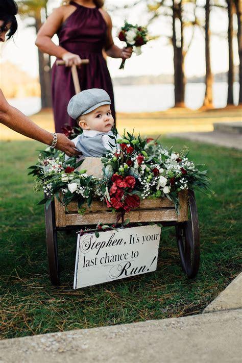 Ring bearer wagon   wedding   Wedding, Wagon for wedding