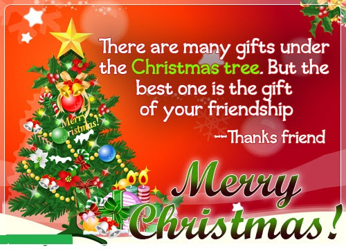 Merry Christmas greetings for friends 2017