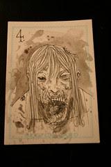 Zombie card 4 watercolour