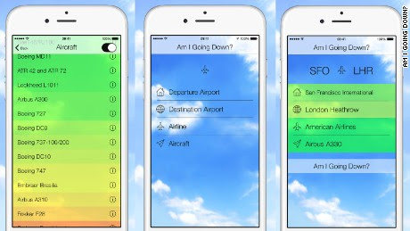 'Am I Going Down?' New app analyzes odds of your flight crashing