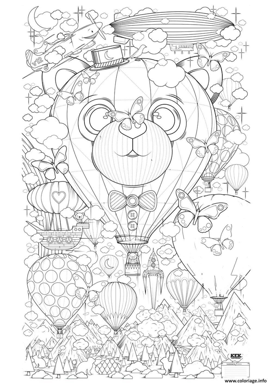 Coloriage Adulte Montgolfiere Zen Anti Stress A Imprimer Dessin  Imprimer