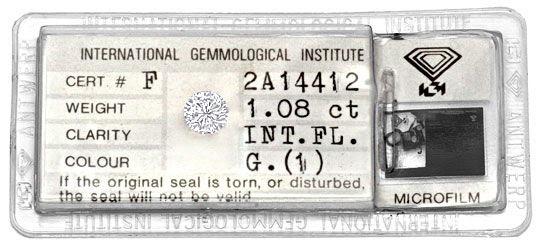 Foto 1, Lupenreiner Einkaräter Diamant 1,08ct IGI Top Wesselton, D5178