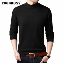 COODRONY Brand Turtleneck Sweater Men Casual Pull Homme