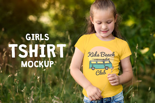 Girls T-shirt Mock-up ~ Product Mockups ~ Creative Market