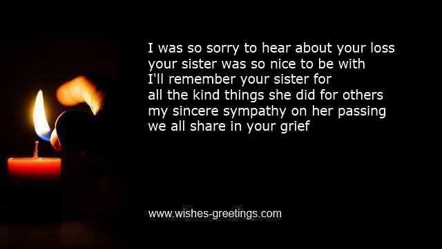 Sympathy Words For Death Of Sister Condolence Messages Funeral