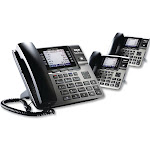 RCA Unison 1-4 Line Wireless Phone System Bundle, 2 Additional Deskphones