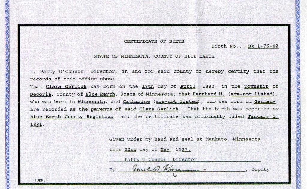 birth copy certificate