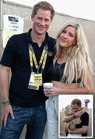 Prince Harry 'is secretly courting Ellie Goulding' as pair are spotted hugging