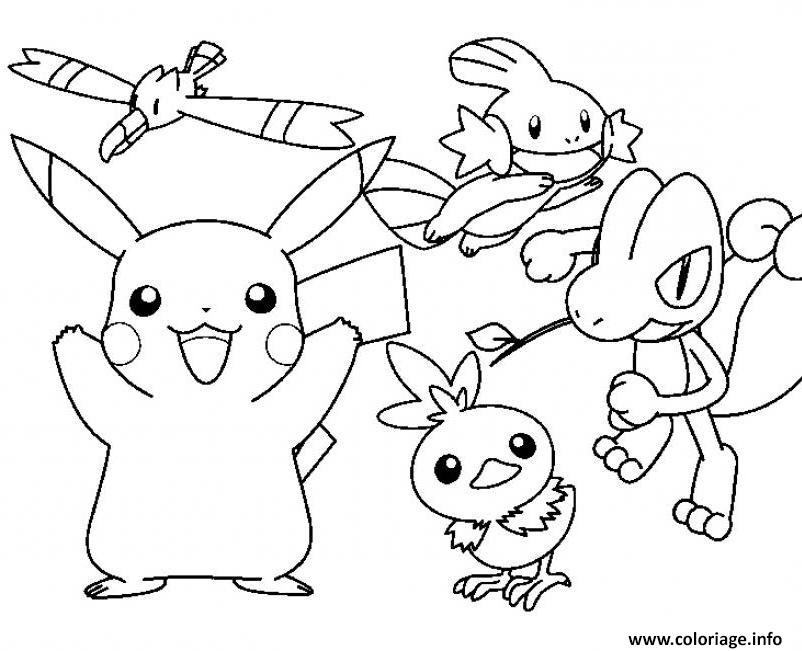 Collections Populaires Coloriage Pokemon Pikachu Catcheur